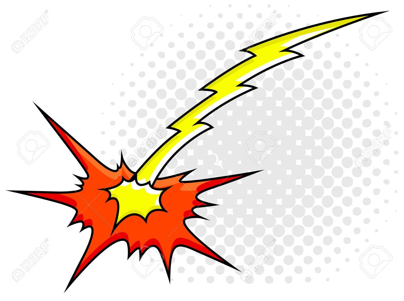 Comic Explosion Sparks Light Stock Vector - 19419746