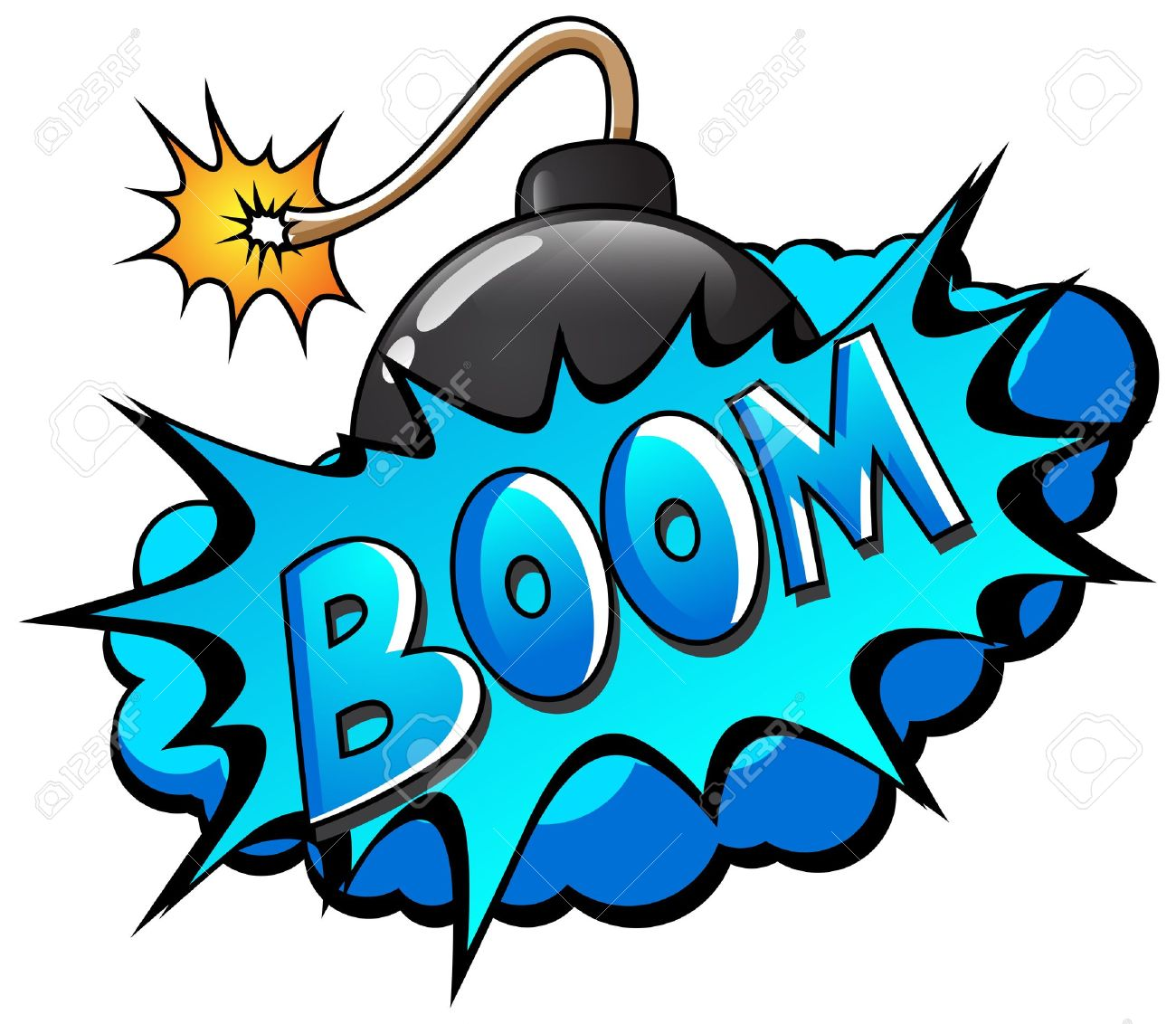 Bomb Icon Text Text Bomb Boom Cartoon