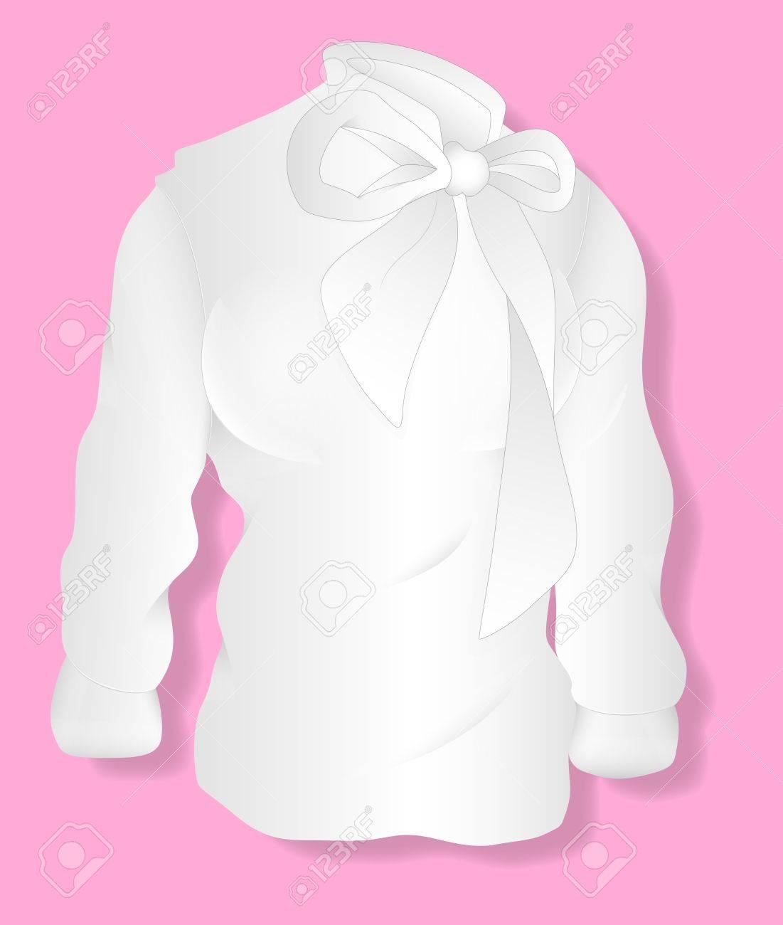 Shirt design illustrator template - Vector White Lady Shirt Design Illustration Template