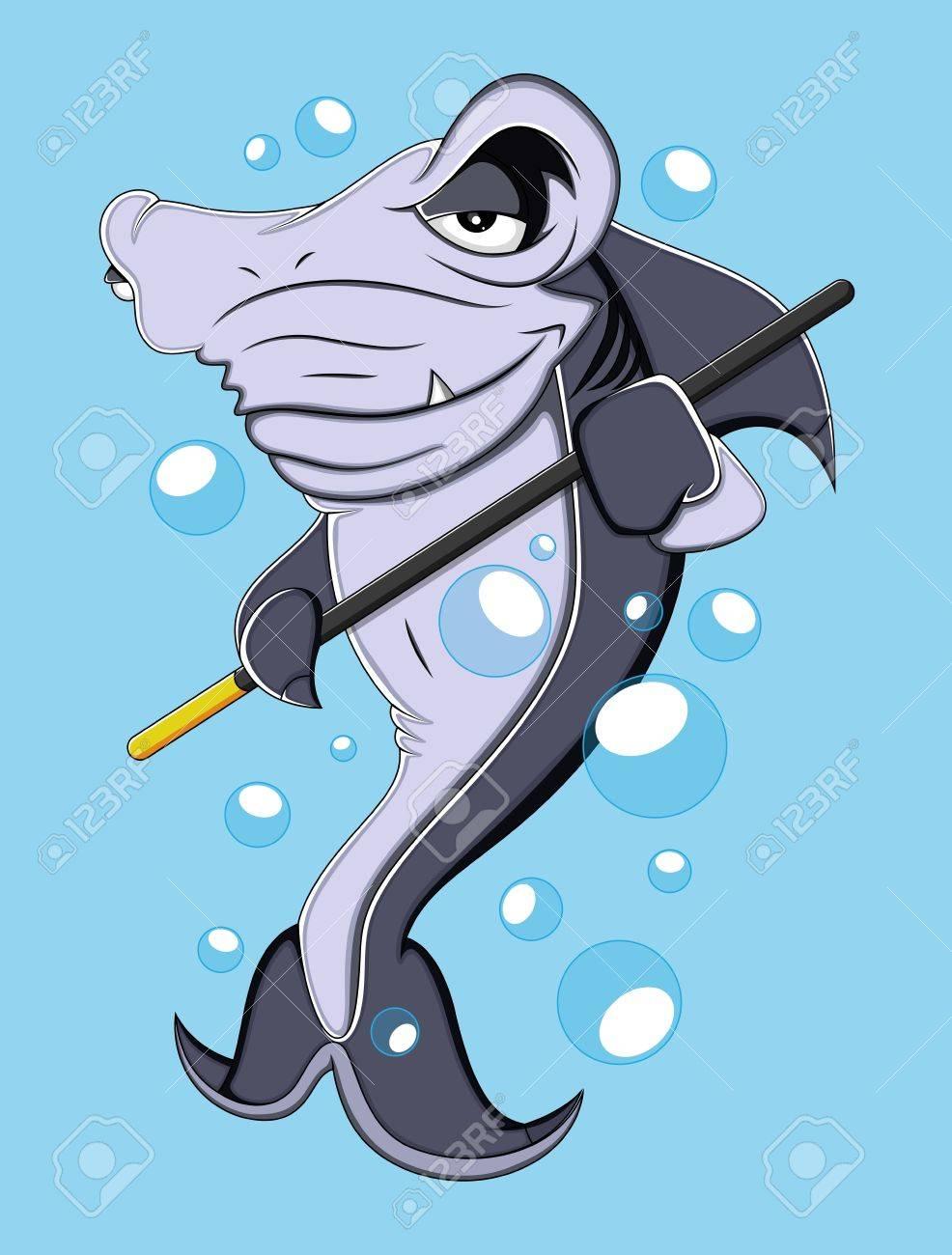 Cartoon Shark  Illustration Stock Vector - 19419826