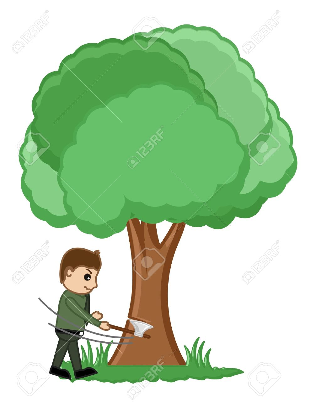 Man Cutting Tree Illustration Royalty Free Cliparts Vectors And Stock Illustration Image 20719037