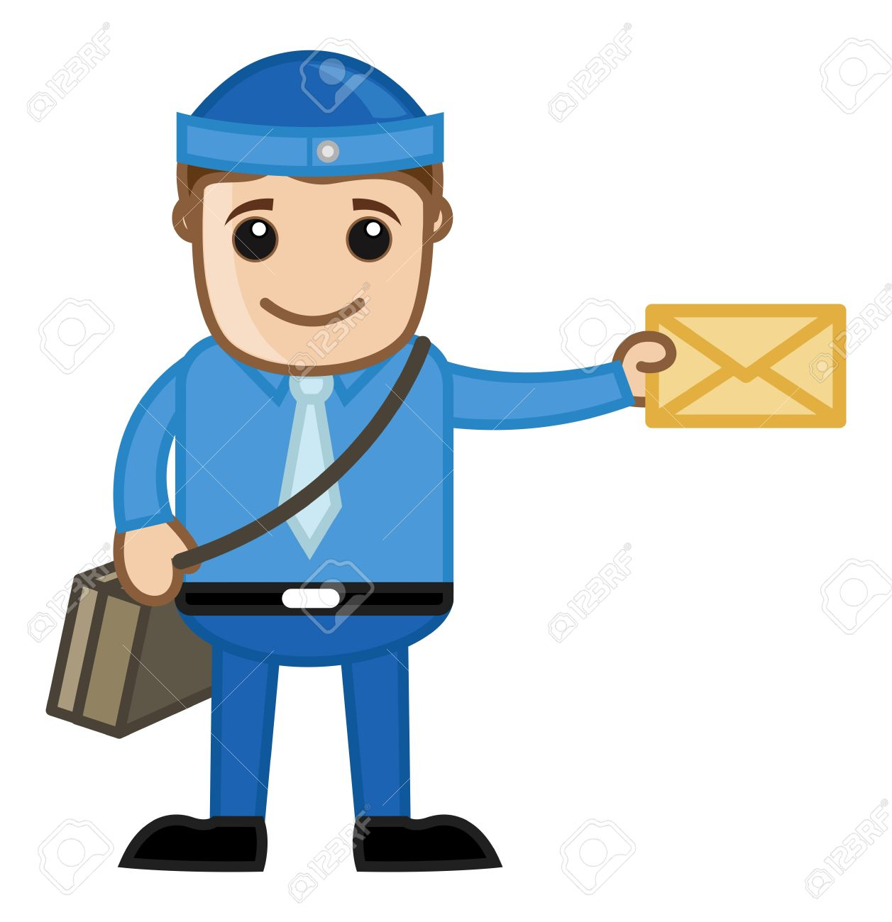 Delivering Mail Cartoon Royalty Free Cliparts Vectors And Stock