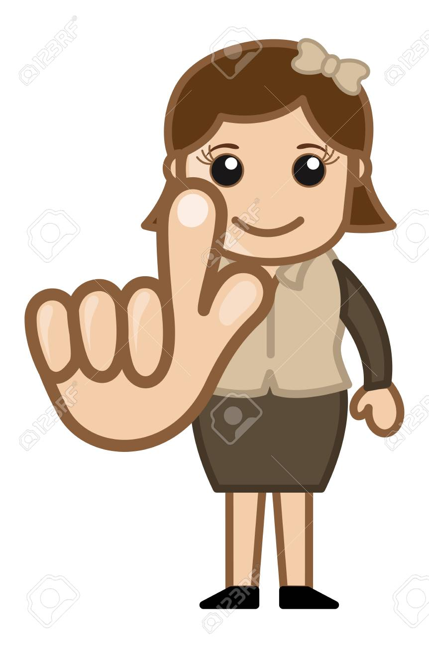 Girl Touching the Screen Illustration Stock Vector - 20728509