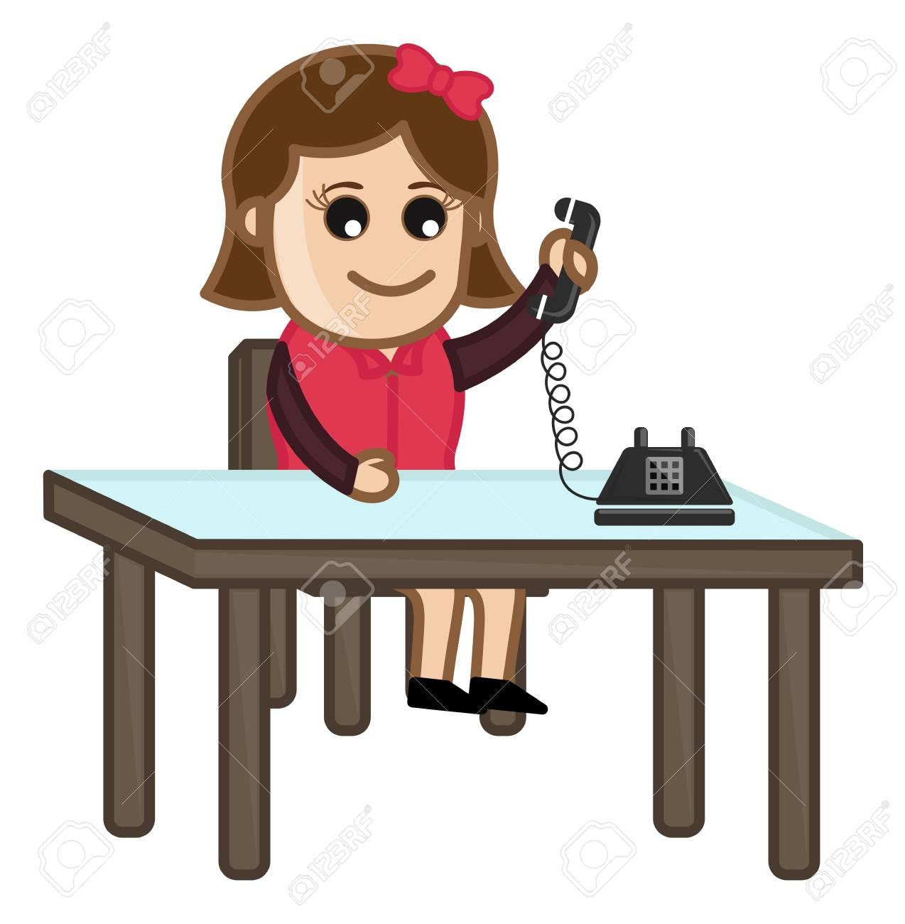 Woman Receiving a Phone Call Stock Vector - 20771394