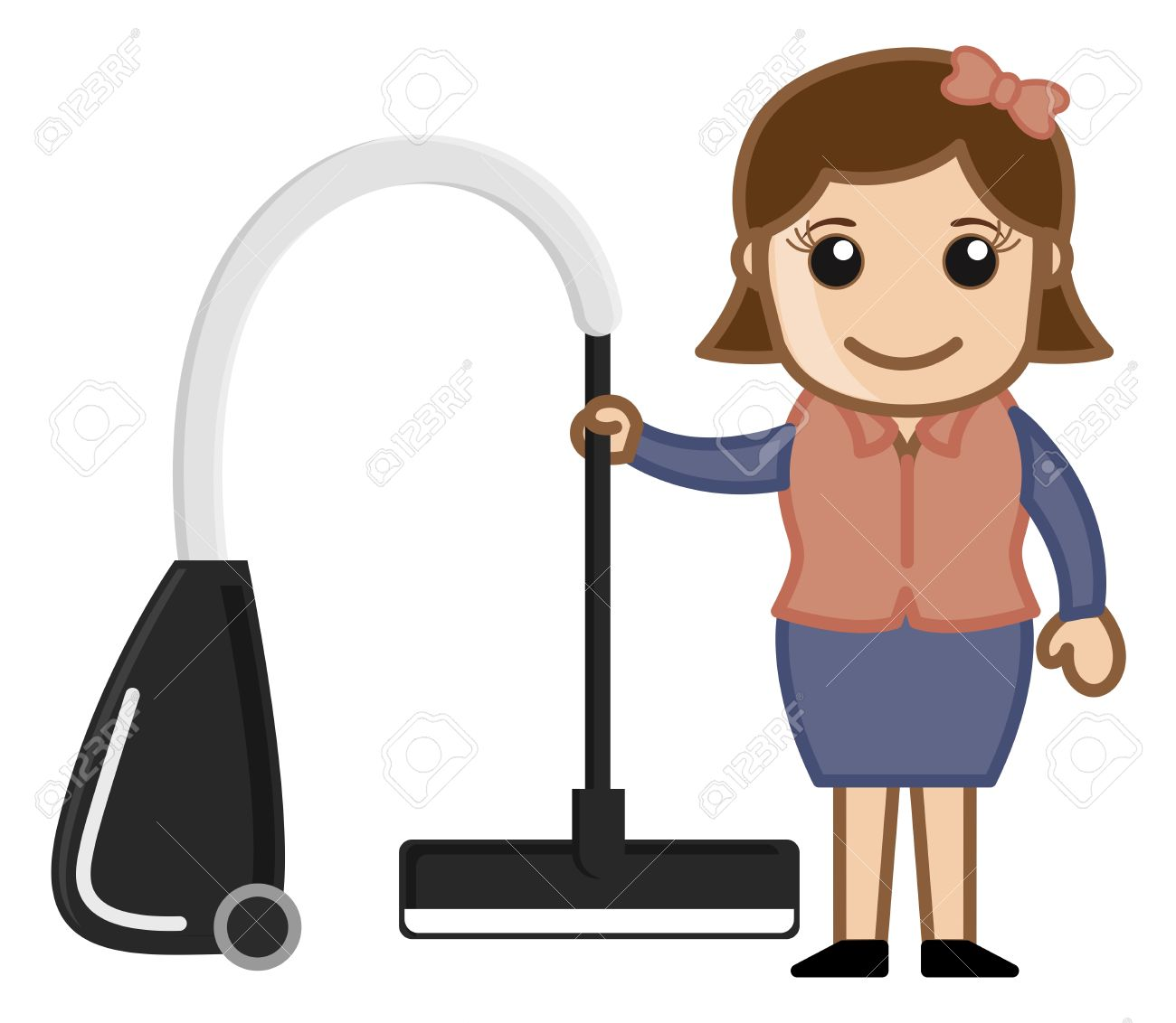 Vacuum cleaner clipart vacuum cleaner clip art - Vector Woman With Vacuum Cleaner