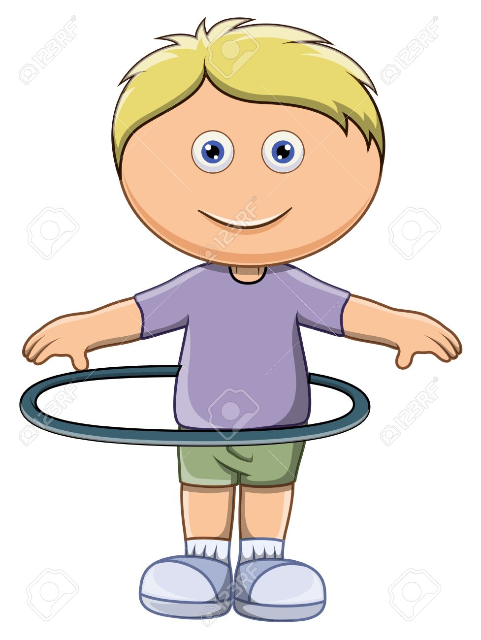 cute little kid doing hula hoop vector cartoon illustration rh 123rf com hula hoop clipart hula hoop clipart black and white