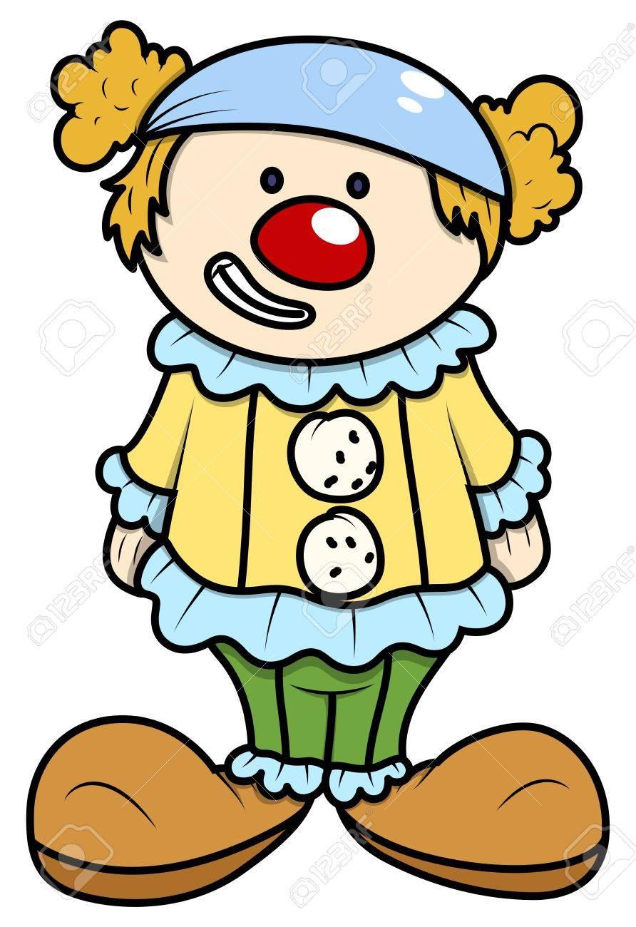 Little Kid in Joker Costume - Vector Cartoon Illustration Stock Vector - 21098241