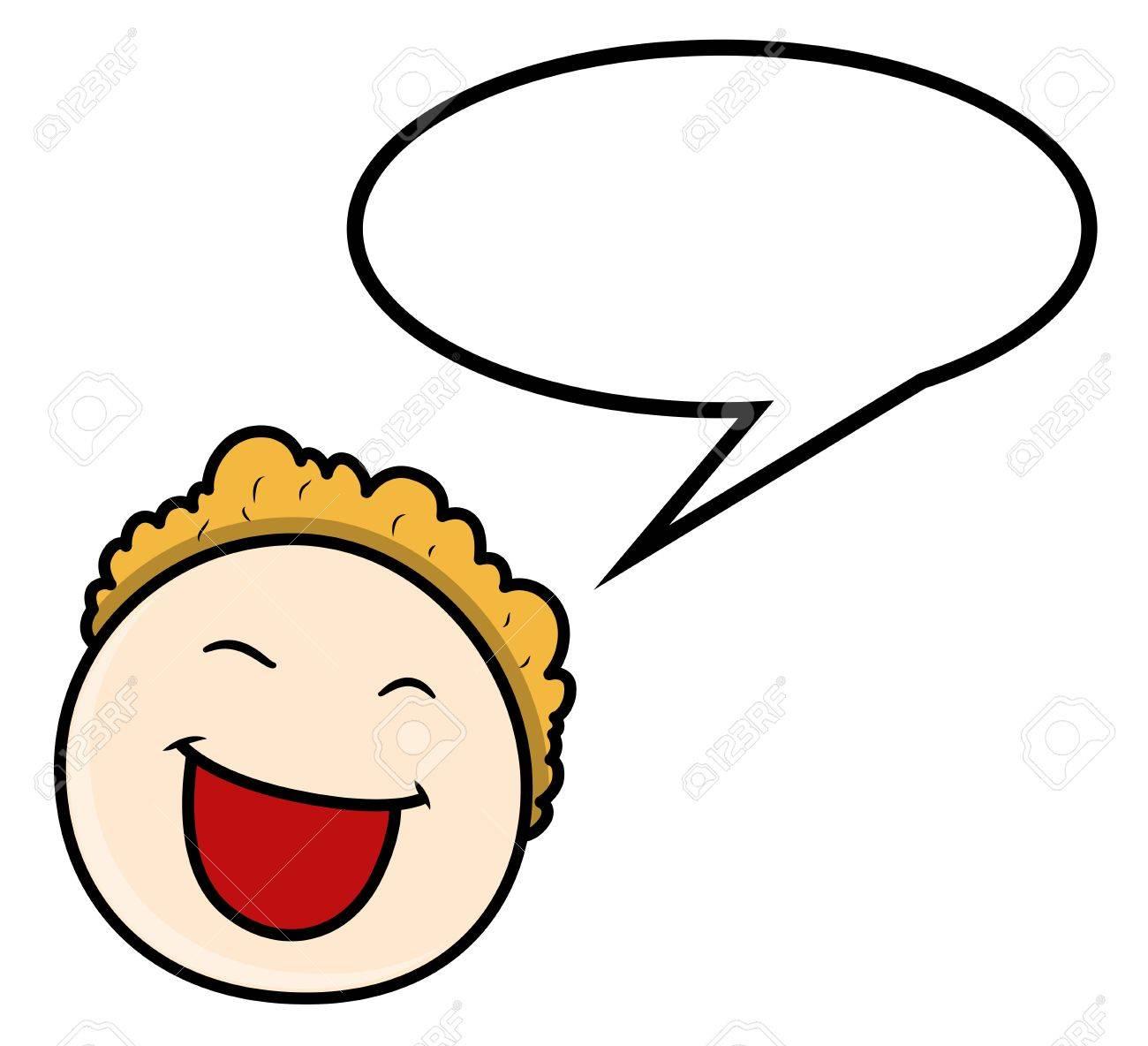Cartoon Boy - Speech Bubble - Vector Illustrations - 21098327