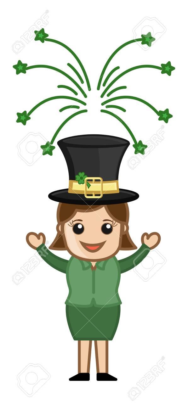 St  Patrick s Day Leprechaun Girl Stock Vector - 21233523