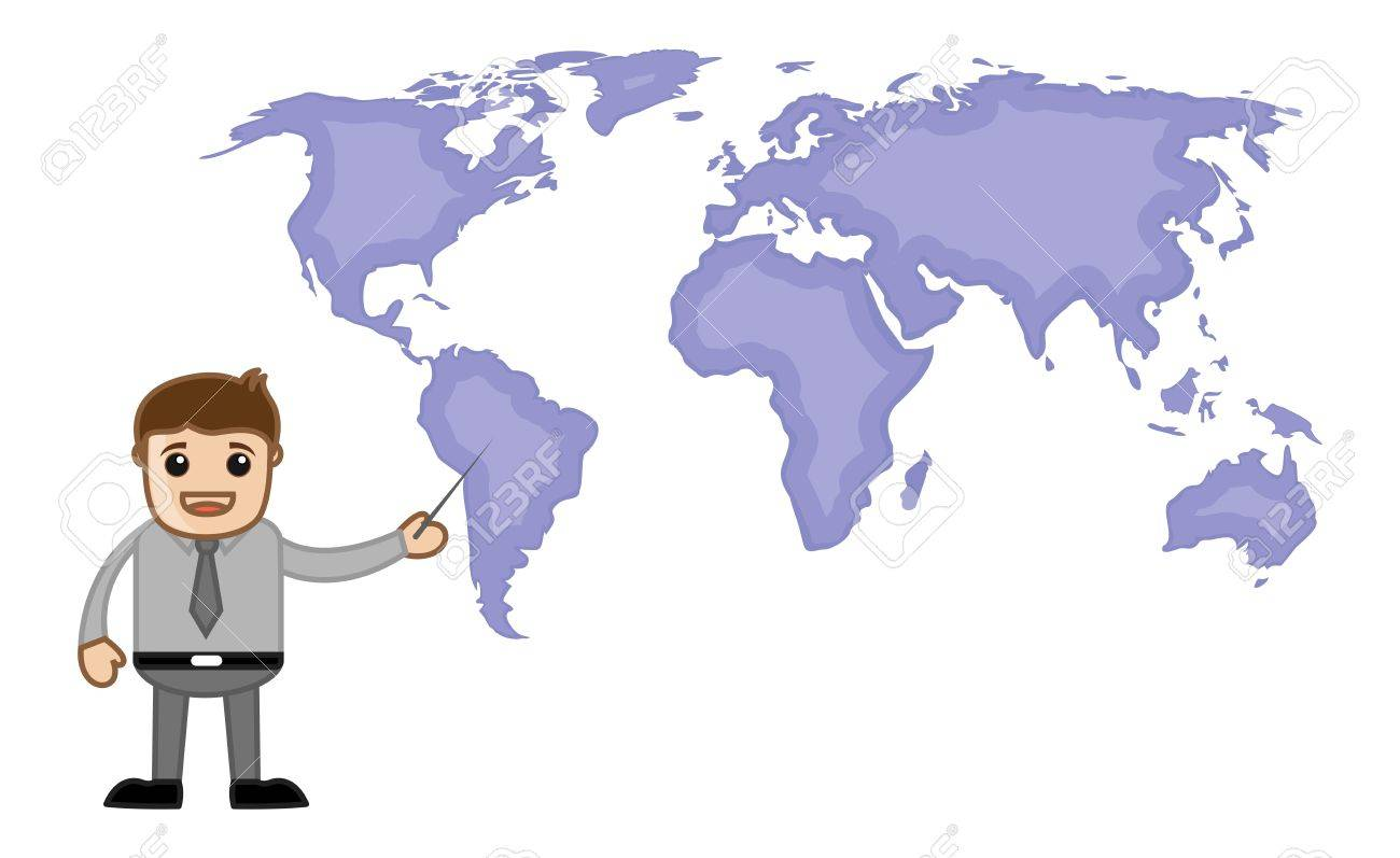 Pointing world map business office cartoon character royalty free pointing world map business office cartoon character stock vector 21280443 gumiabroncs Gallery