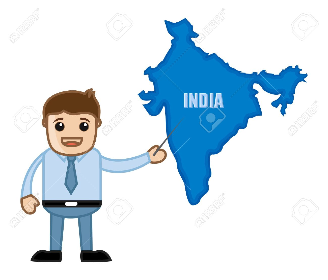 Showing india map business office cartoon character royalty free showing india map business office cartoon character stock vector 21280447 gumiabroncs Images