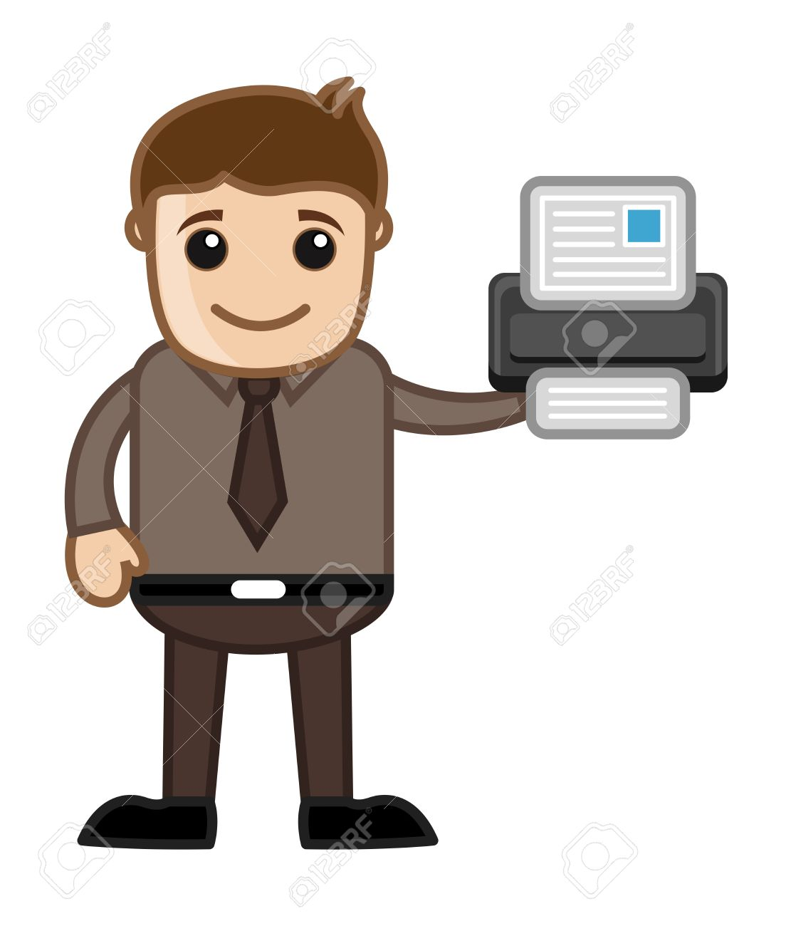Printer - Business Cartoons Vectors Stock Vector - 21313966