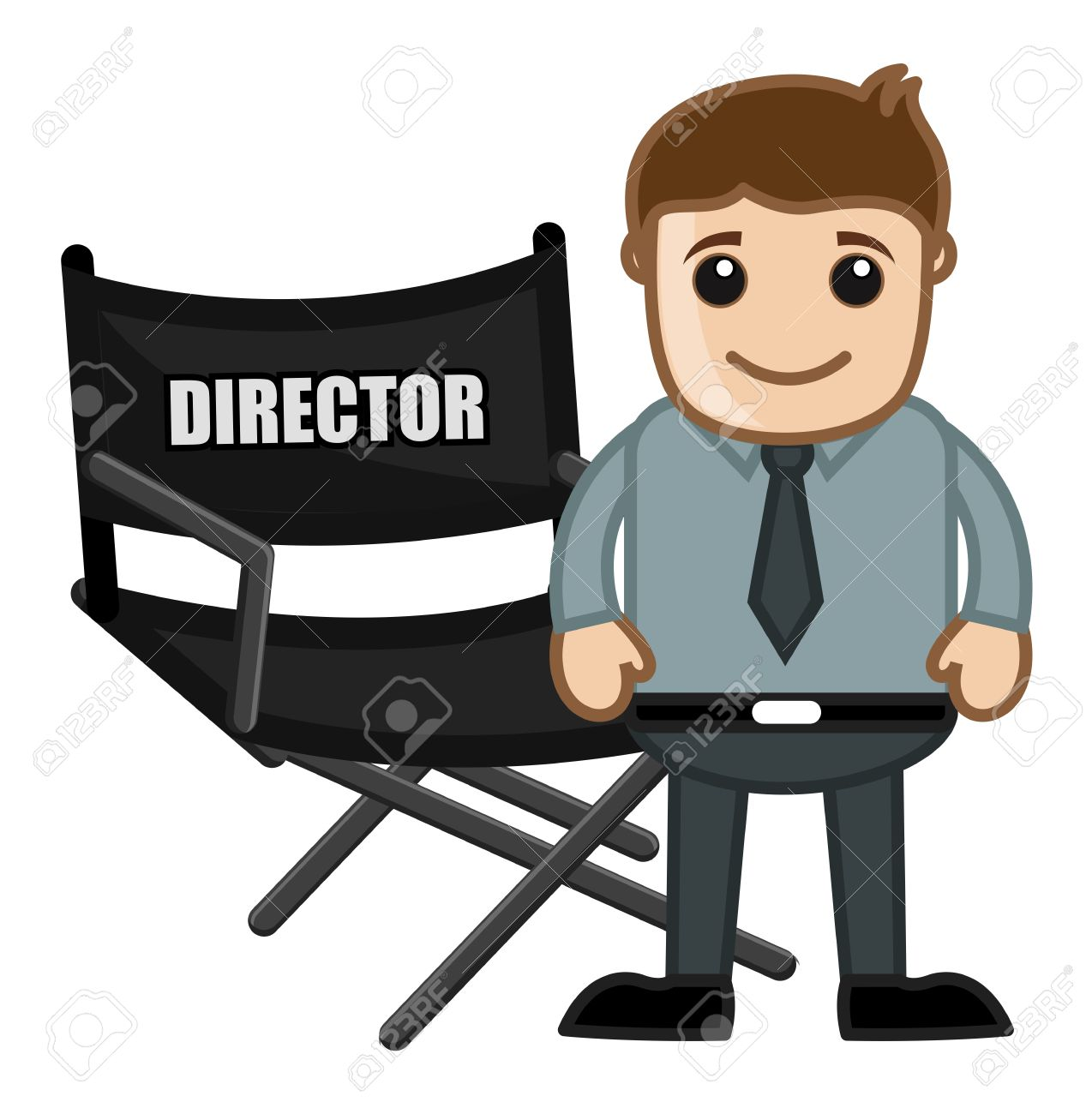 director chair business cartoons vectors royalty free cliparts