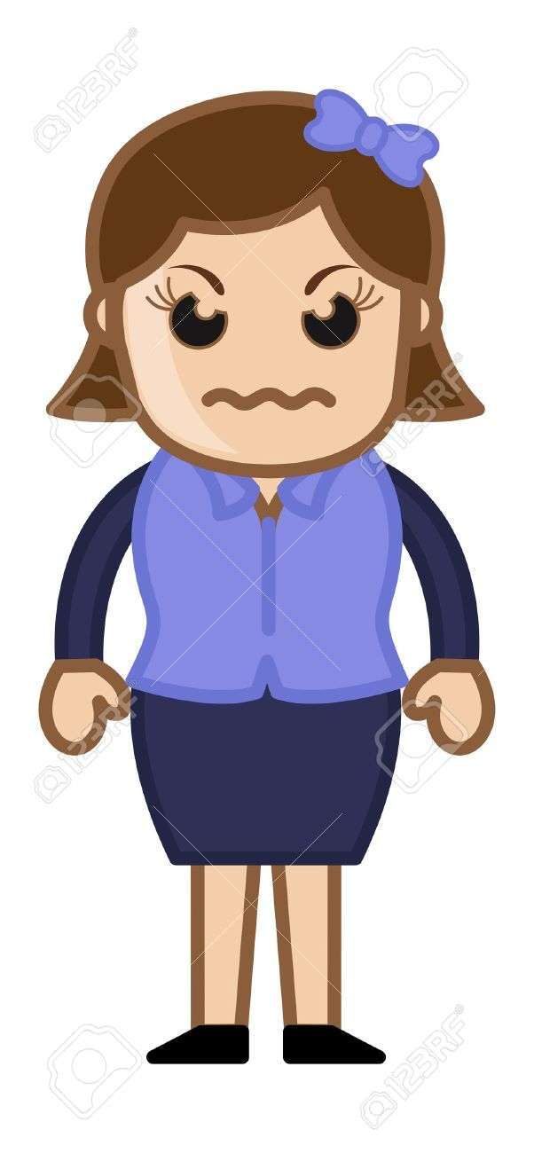 angry woman business cartoon character royalty free cliparts rh 123rf com famous angry cartoon characters angry cartoon character images