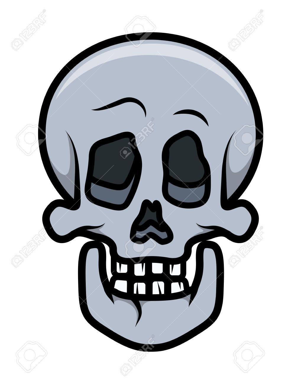 skull cartoon tattoo vector cartoon illustration royalty free rh 123rf com pictures of cartoon skeleton heads cartoon skeleton head clip art