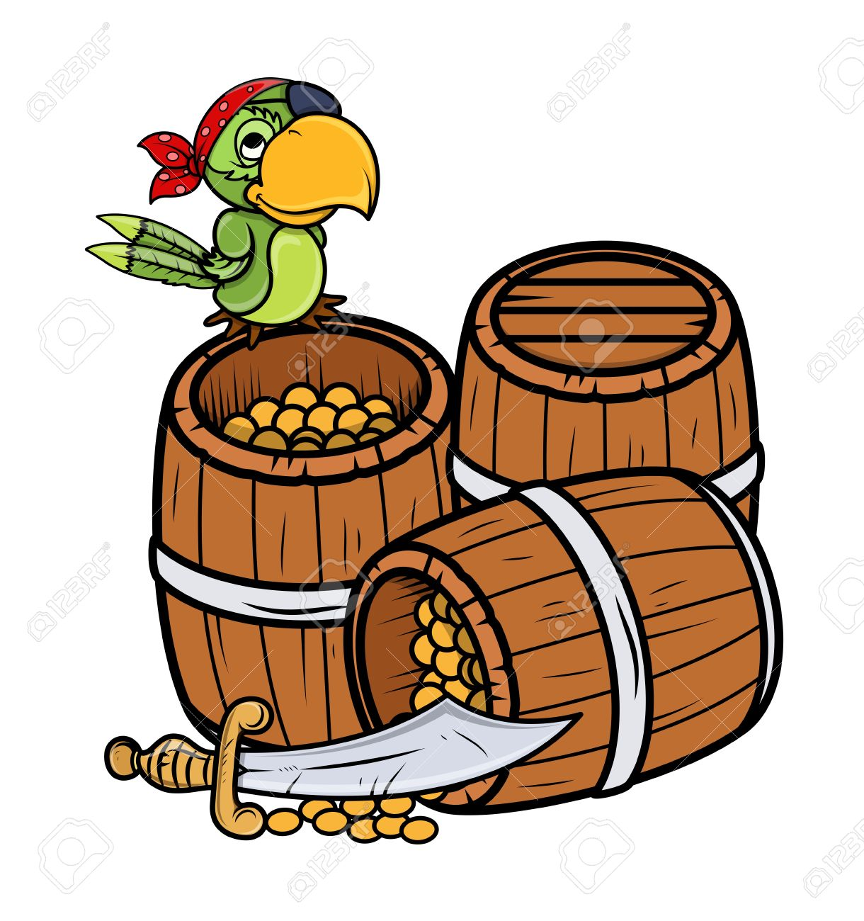 Parrot Cartoon Pictures Parrot Cartoon Treasure And