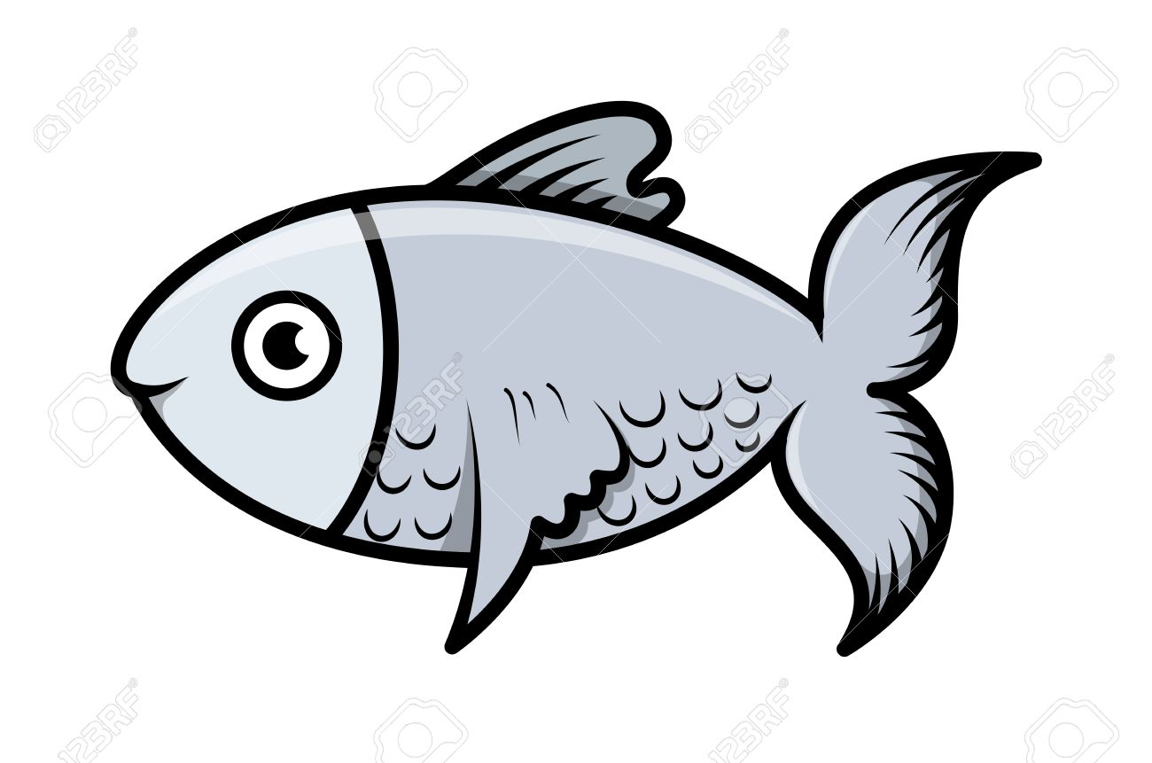 simple cartoon fish illustration - Simple Cartoon Pics