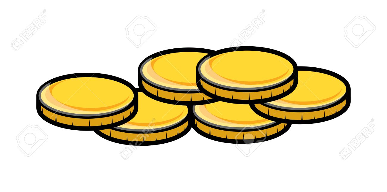 cartoon gold coins clipart vector illustration royalty free rh 123rf com gold coins clipart images gold coin clipart free