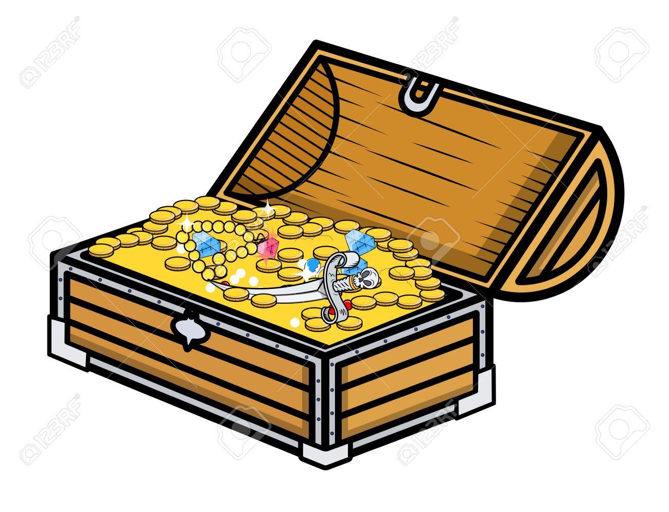 treasure box cartoon vector illustration royalty free cliparts rh 123rf com treasure box clipart