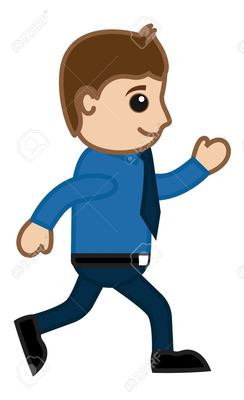 man walking fast office corporate cartoon people royalty free rh 123rf com cartoon person walking png cartoon person walking up stairs