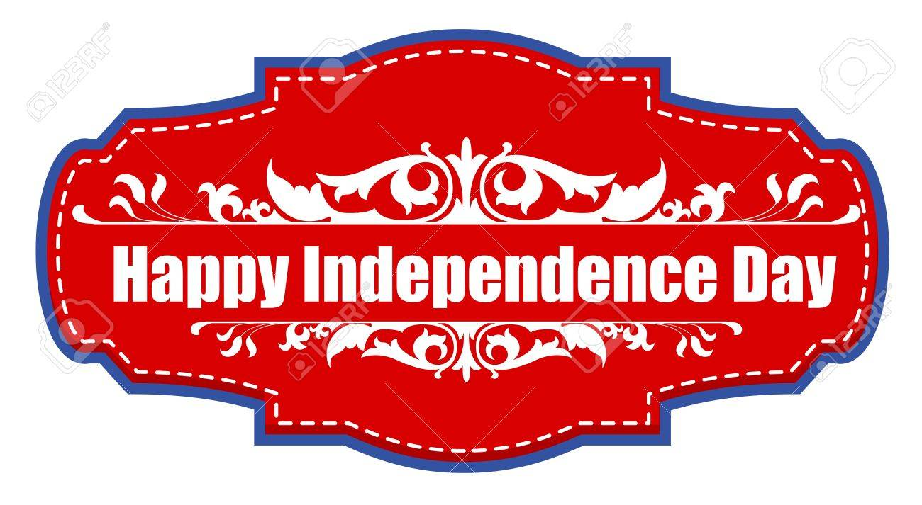 happy independence day sticker tag - 4th of july vector illustration Stock Vector - 22060251