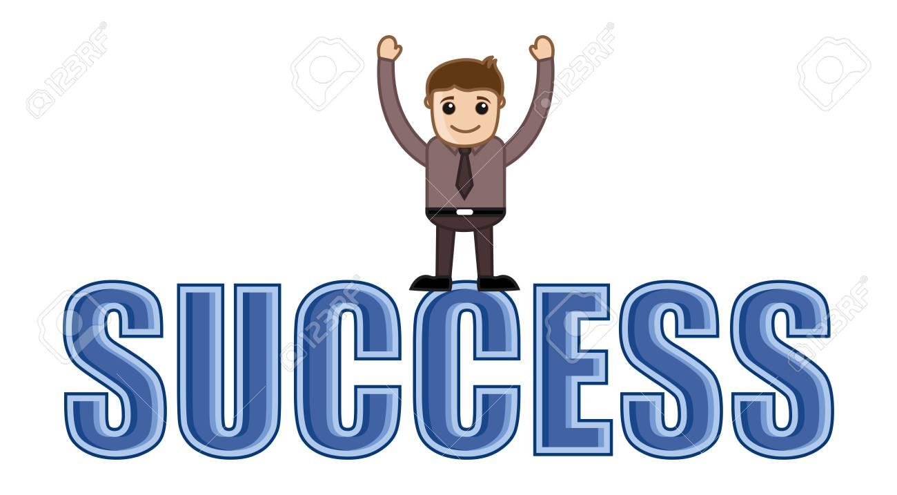 Success - Business Cartoons Vectors Stock Vector - 22059667