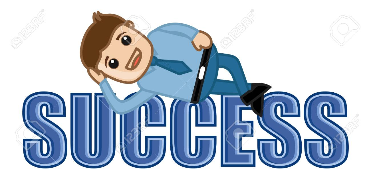 Success - Leisure Life - Business Cartoons Vectors Stock Vector - 22059659
