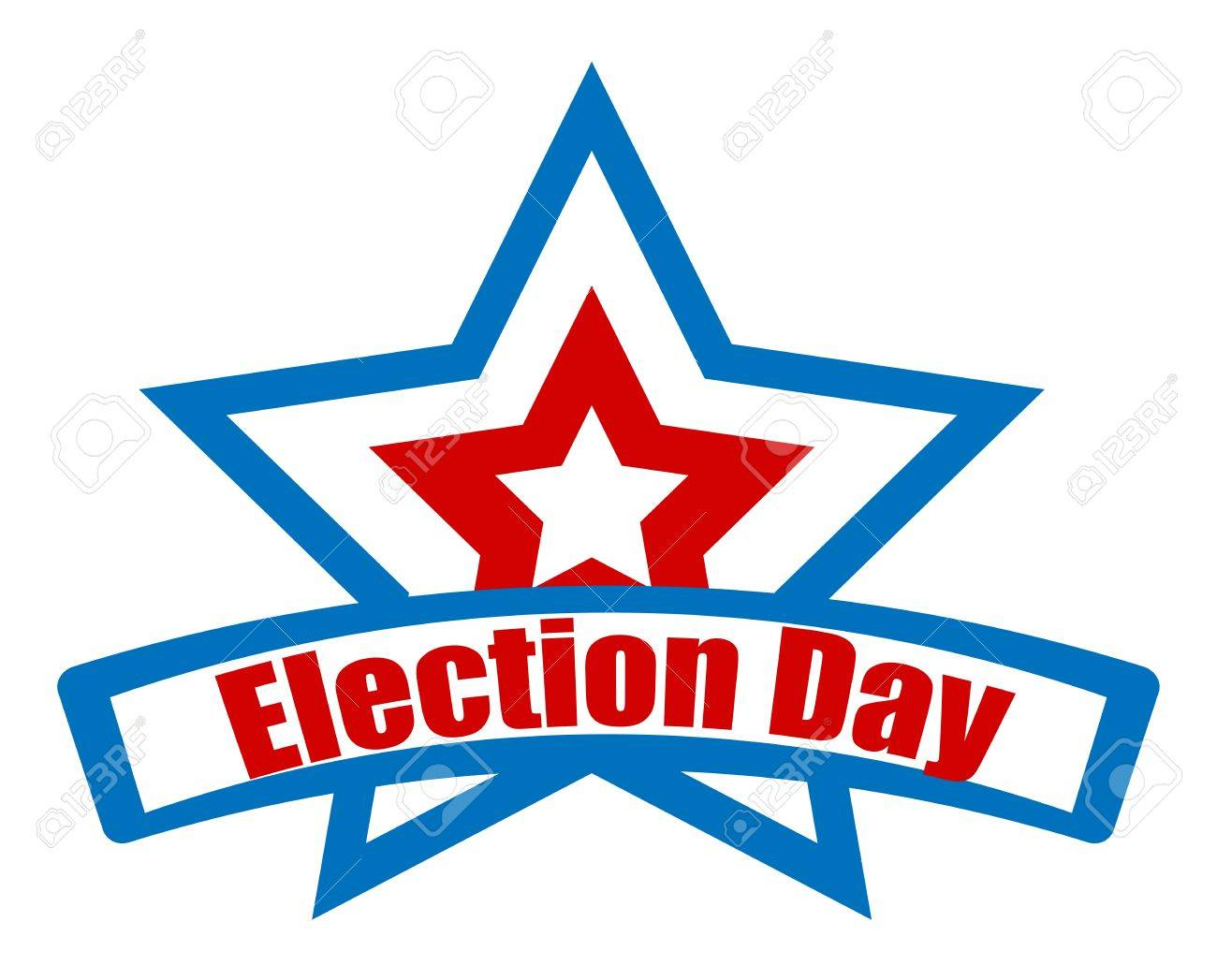 election day star retro banner vector royalty free cliparts vectors rh 123rf com election day clip art free election day bake sale clip art