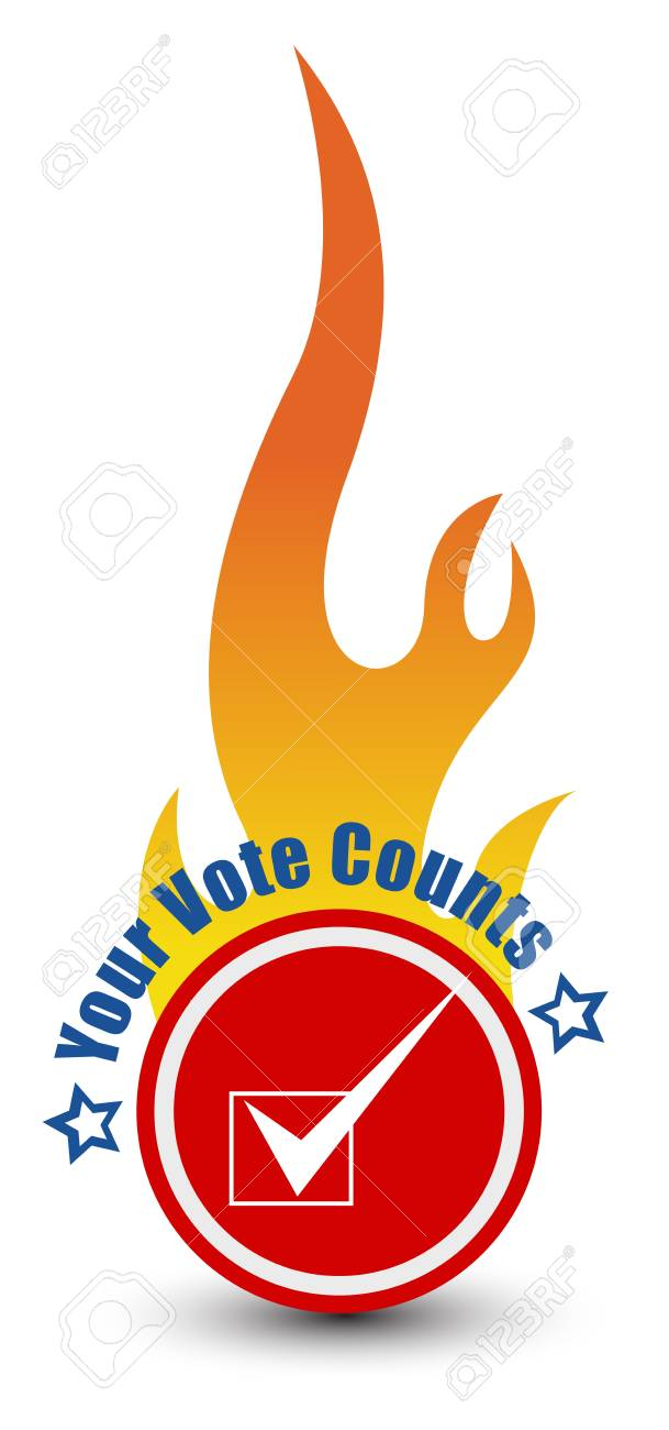 USA Constitution - Your Vote Counts - Election Day Vector Illustration Stock Vector - 22068059
