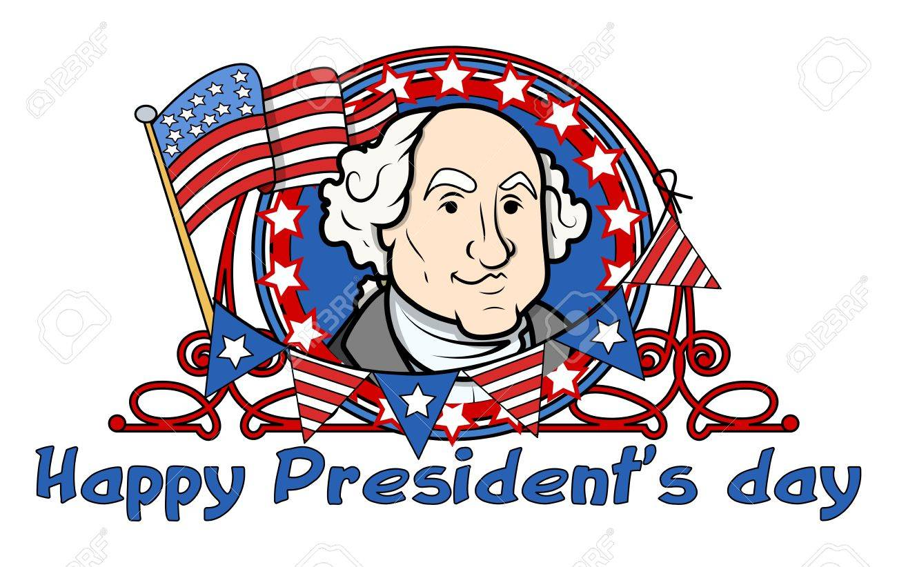 Showing George Washington on - Presidents Day Vector Illustration Stock Vector - 22060214