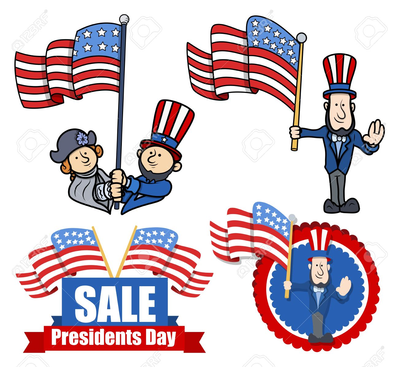 Various Clip-Art and Design for Presidents Day - 22060203