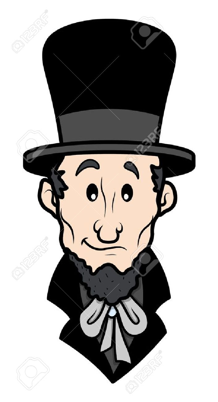 Abraham Lincoln Cartoon Vector Character Royalty Free Cliparts