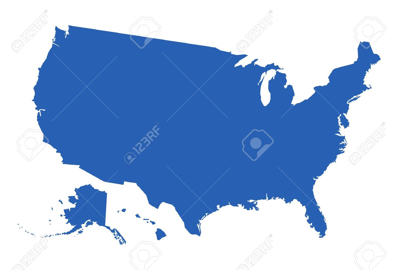 USA Map Vector Royalty Free Cliparts Vectors And Stock - Free usa map vector