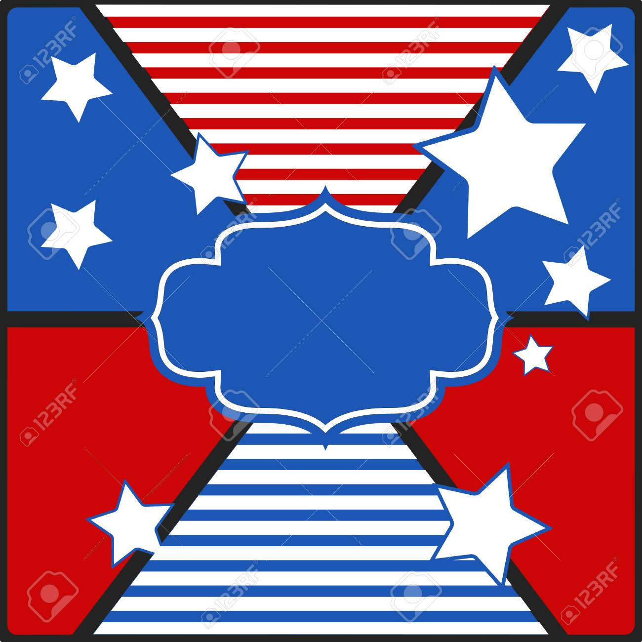 vintage tag background - US 4th of July - Independence Day Vector Design Stock Vector - 22318299