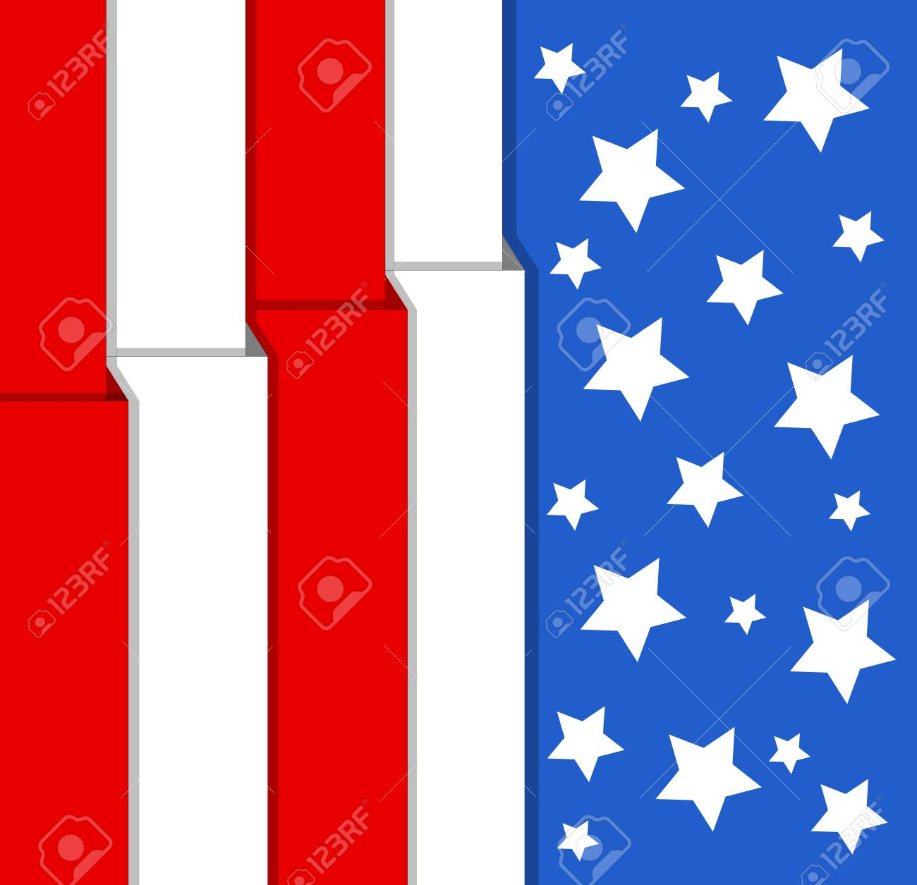 flag - US 4th of July - Independence Day Vector Design Stock Vector - 22318301