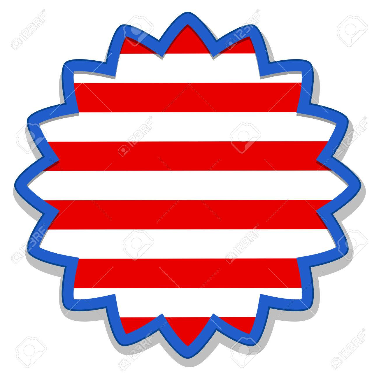 badge sticker - US 4th of July - Independence Day Vector Design Stock Vector - 22318344