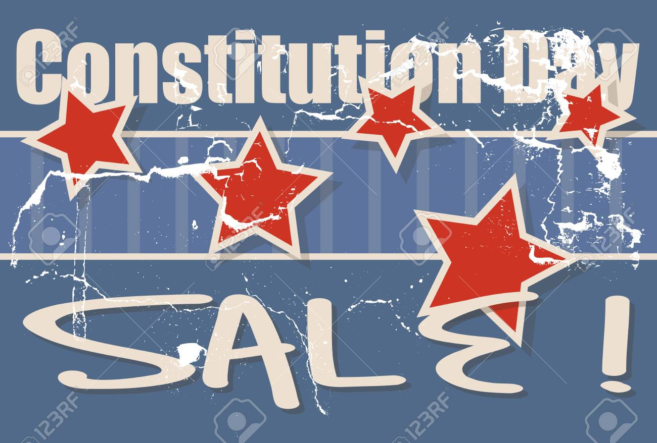 Constitution Day Sale Vector Illustration Stock Vector - 22318459