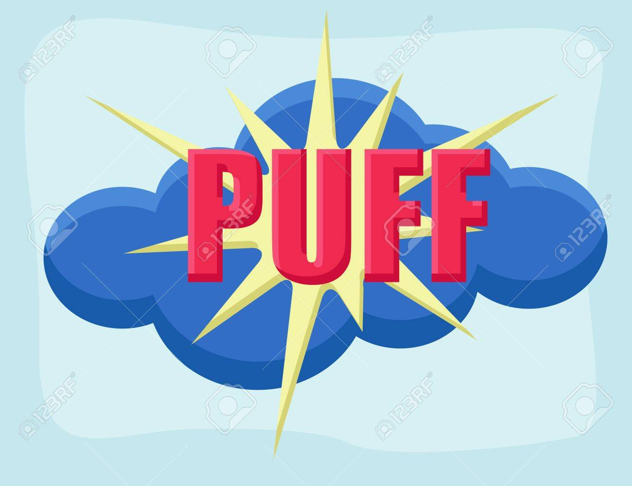 Puff - Comic Cartoon Background Vector Stock Vector - 22318654