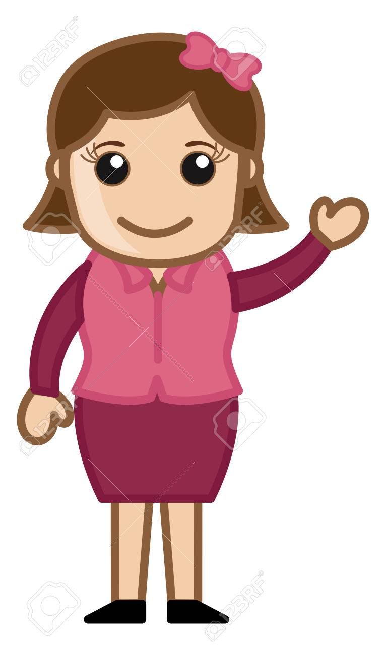 cute simple cartoon girl vector stock vector 30391775 - Simple Cartoon Pics
