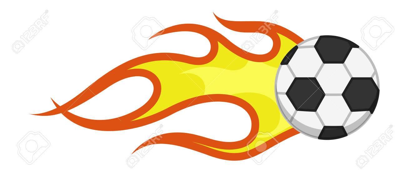 Vector De Dibujos Animados - Llama Ardiente Fútbol Ilustraciones ... 7d16d61159b0b