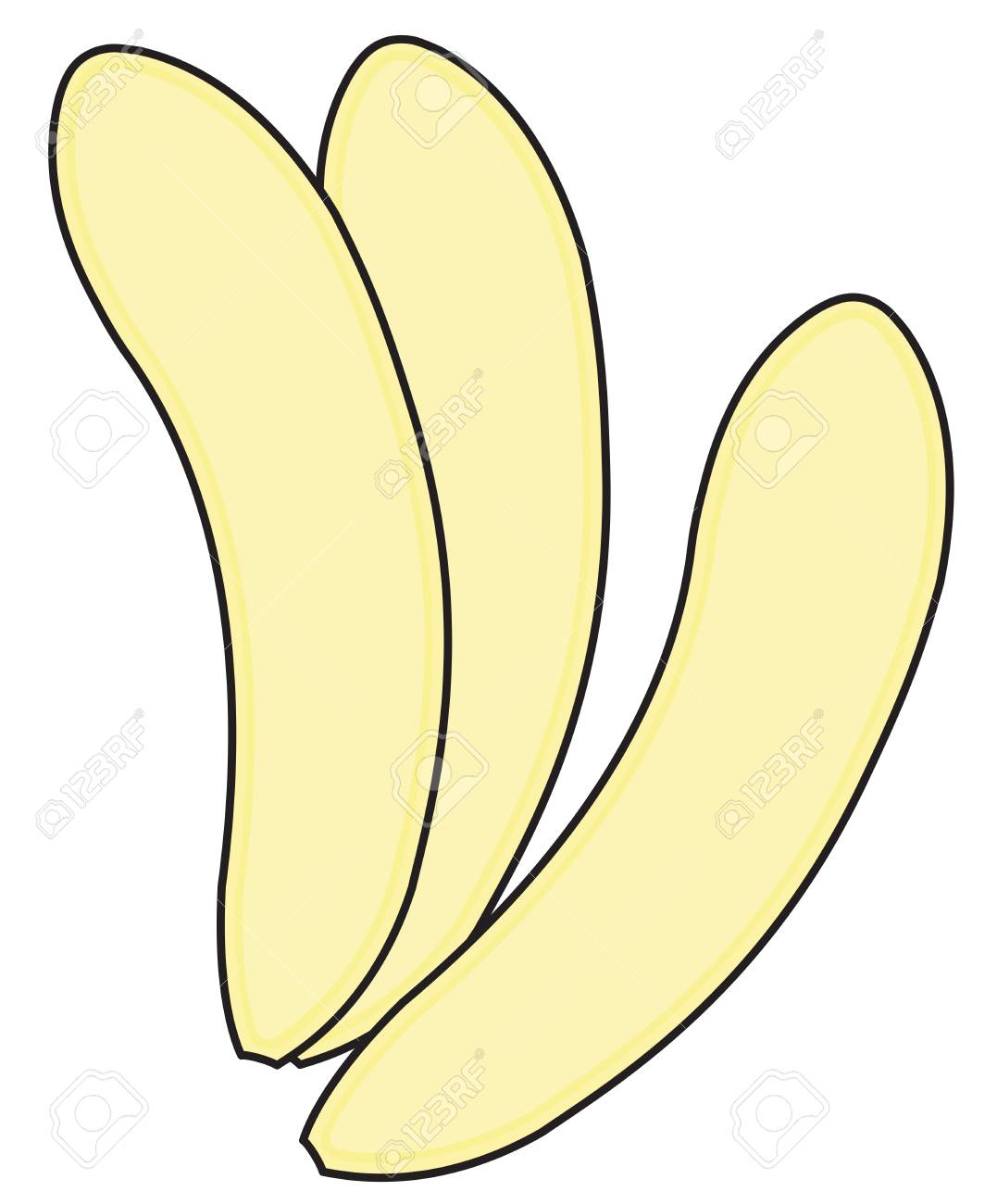 Bananas Without Peel Royalty Free Cliparts Vectors And Stock