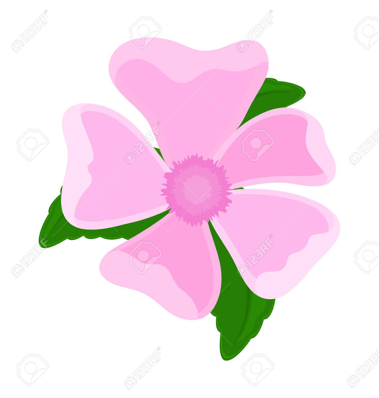 Pink flower element drawing royalty free cliparts vectors and pink flower element drawing stock vector 33660639 mightylinksfo