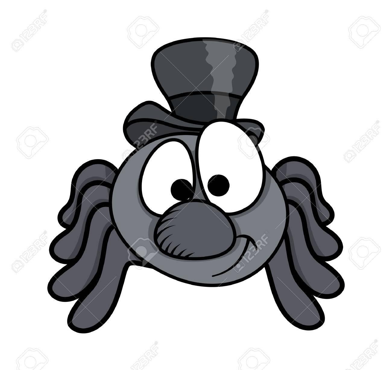 Macho De Arana De Dibujos Animados Divertido Ilustracion Vectorial - Dibujos-araas-halloween