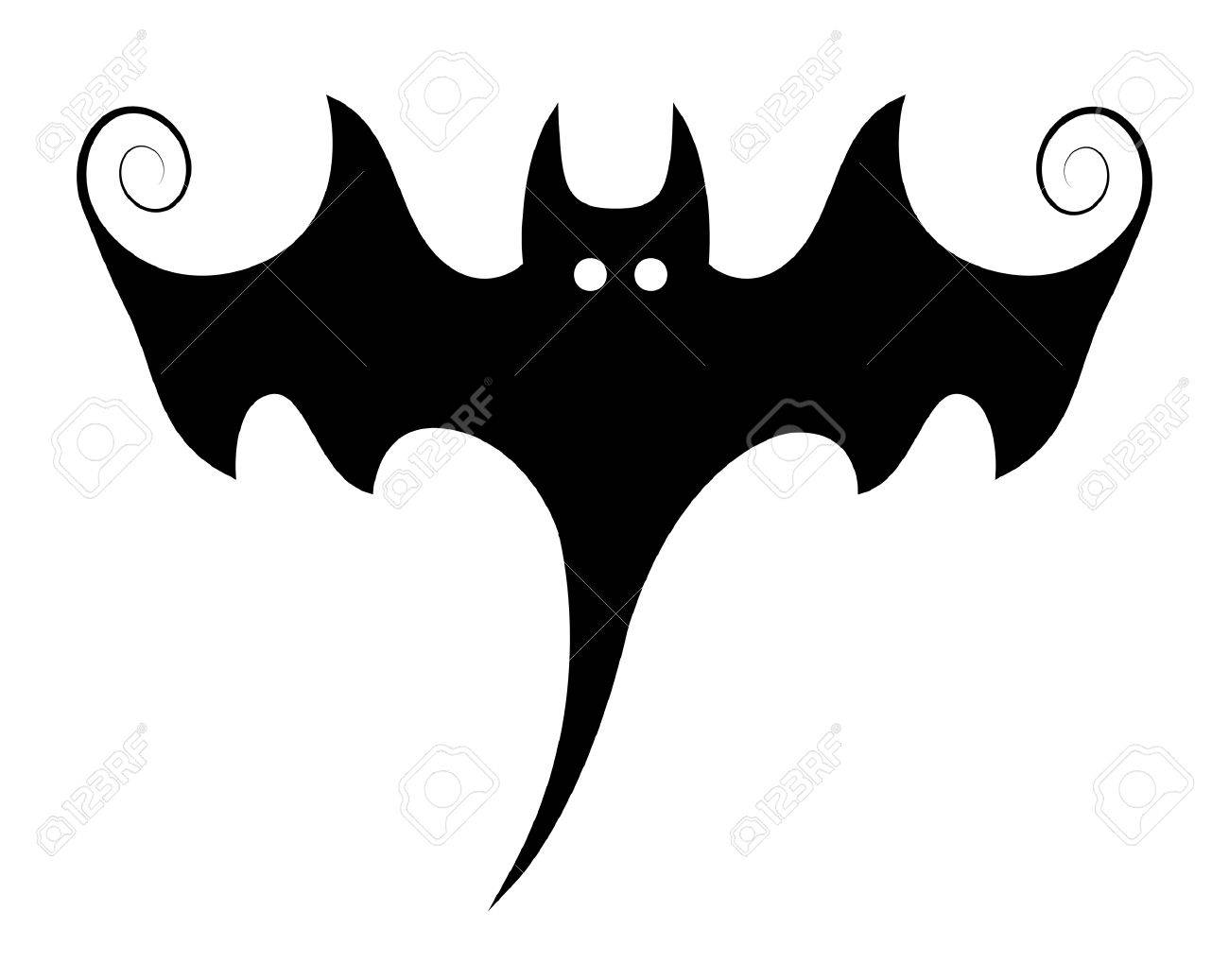 stylish bat illustration silhouettes halloween vector rh 123rf com halloween vector graphics halloween vector art free