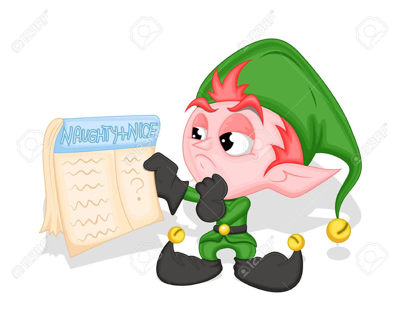 Funny Elf Holding A Holiday Calendar Royalty Free Cliparts ...