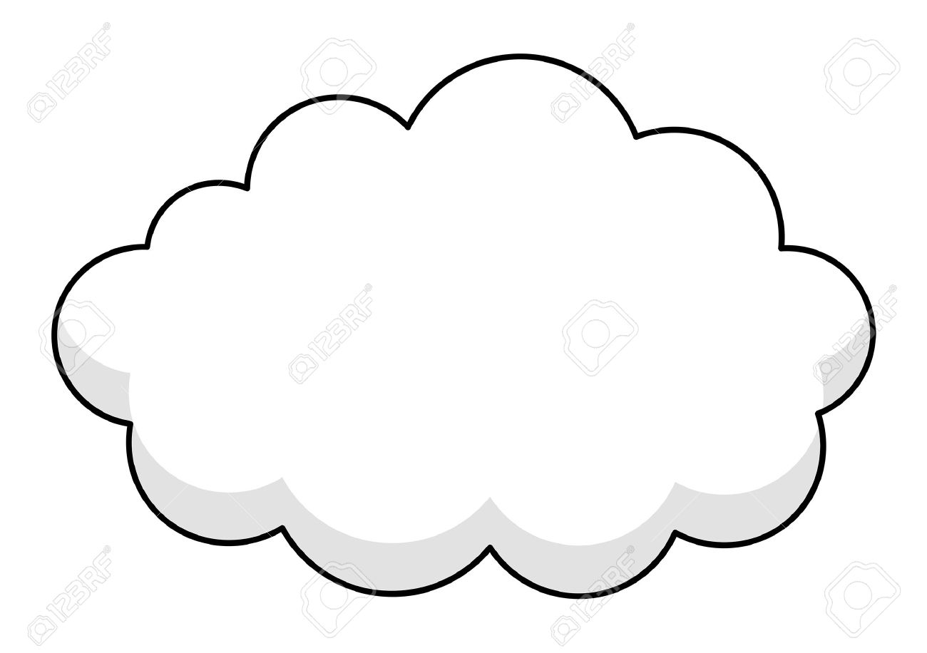 cloud frame vector frame stock vector 35634157