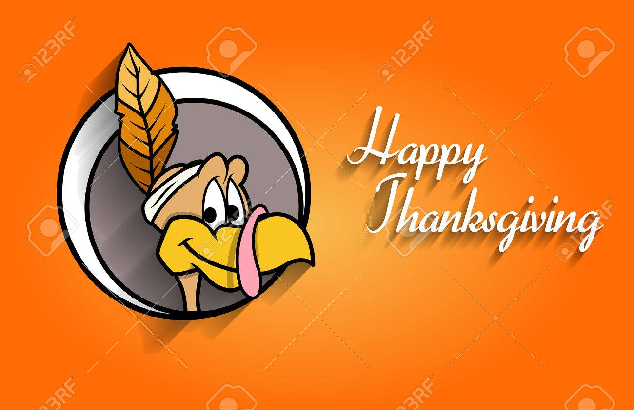 Happy Thanksgiving Turkey Face Royalty Free Cliparts Vectors And