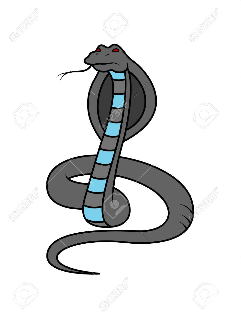 Cartoon King Cobra Snake Royalty Free Cliparts, Vectors, And Stock ...