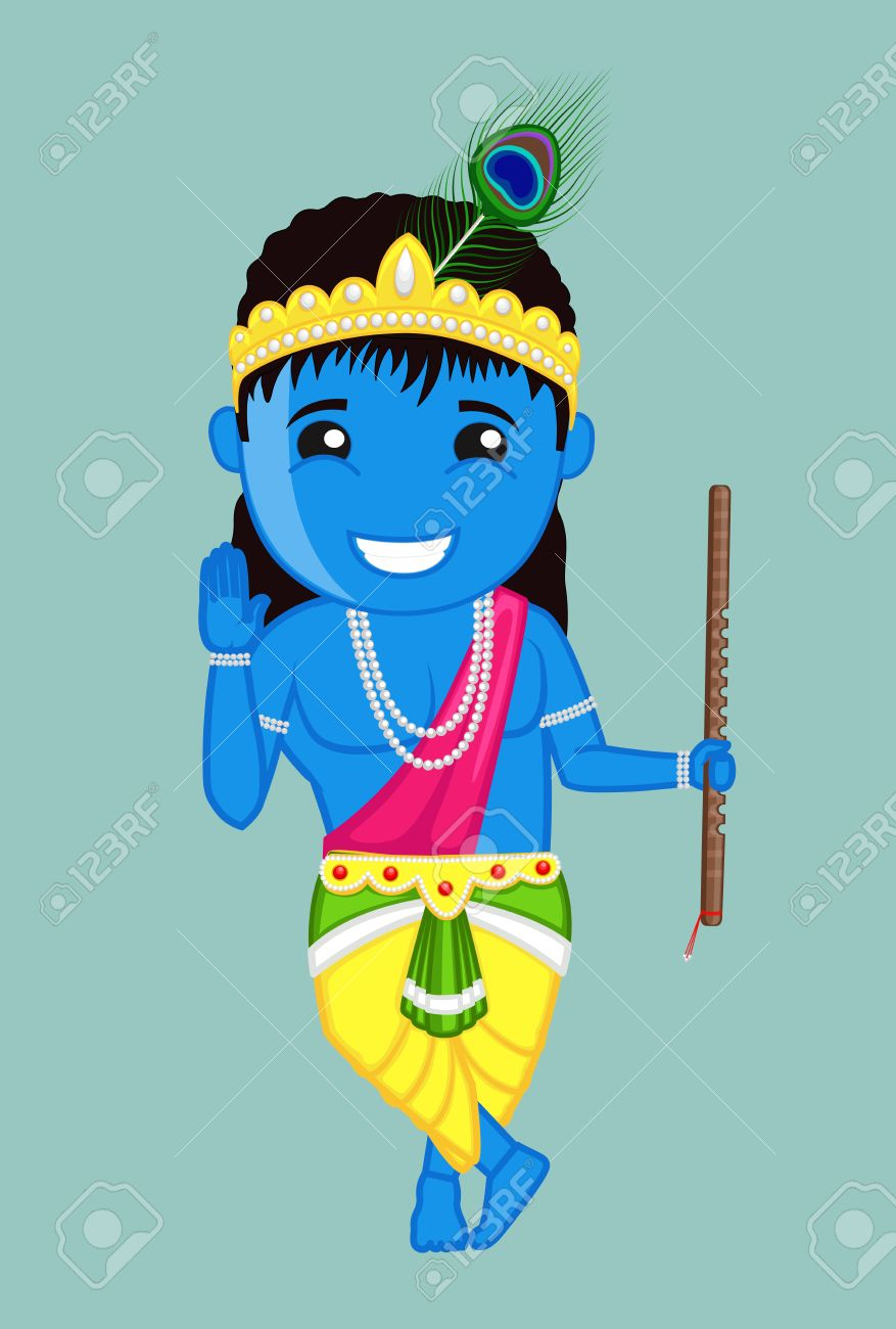 Cute Bal Krishna Blessing Indian God Royalty Free Cliparts Vectors And Stock Illustration Image 41847270
