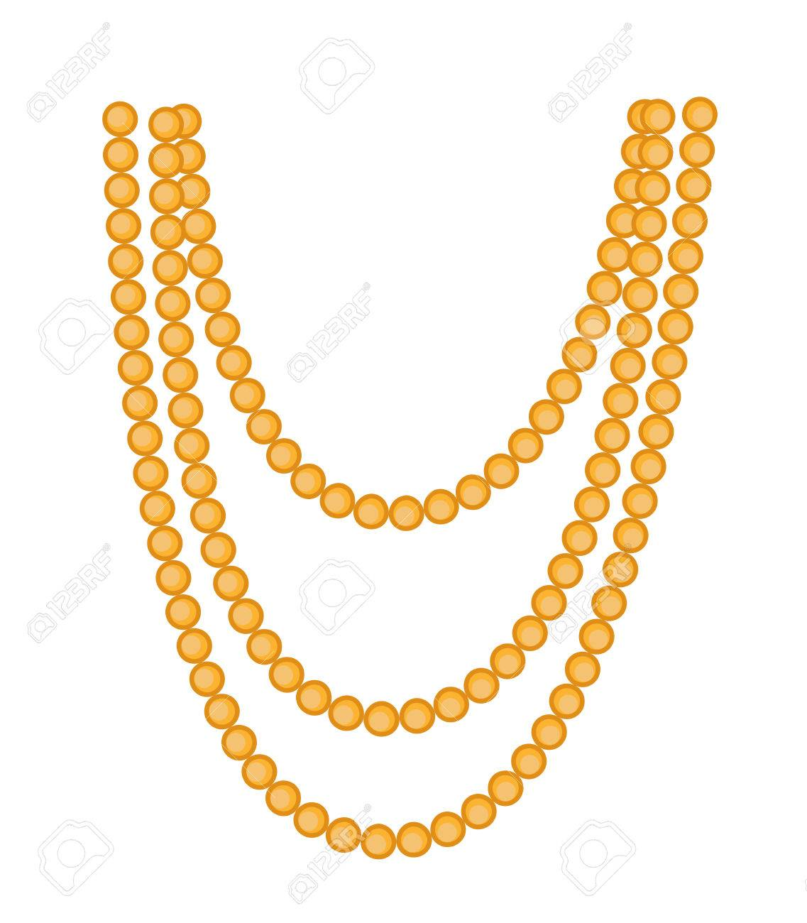 retro beads necklace clipart royalty free cliparts vectors and rh 123rf com necklace clipart necklace clipart free